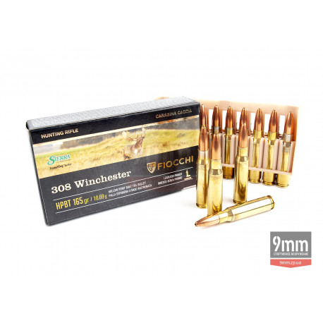 Патрон Fiocchi .308 Winchester HPBT 165gr SGK