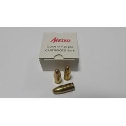Патрон Mesko 9мм(9х19) 8г/123gr, пуля/гильза лат.