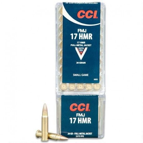 Патрон CCI кал. 17 HMR пуля FMJ 1.3 g/20 grs