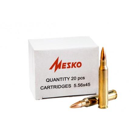 Патрони Mesko, 223 Rem (5,56/45), FMJ, 3.56г/55 gr, пуля/гильза латунь